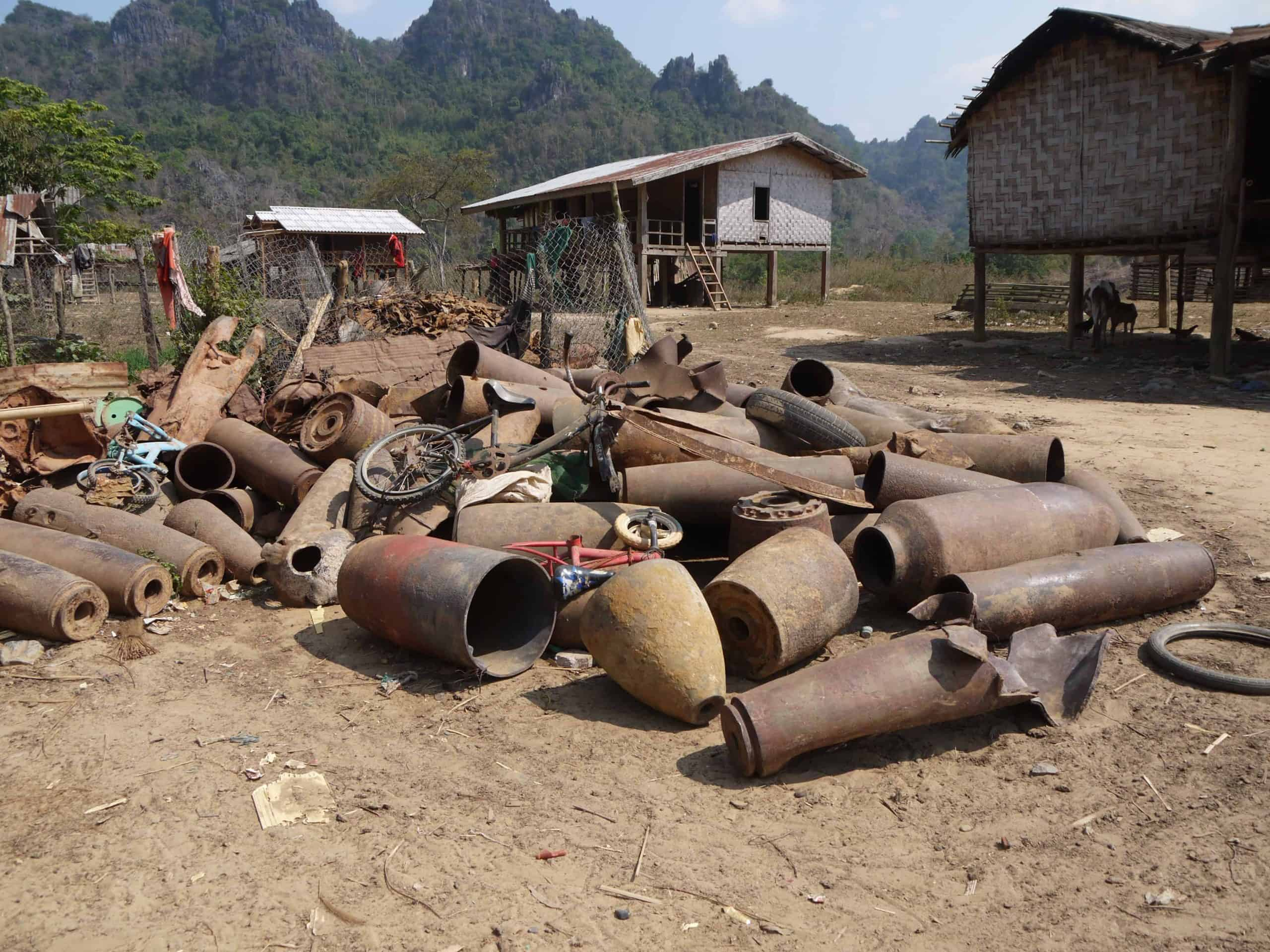 Ban-Laboy-Laos-scrap-metal-UXO-bombs
